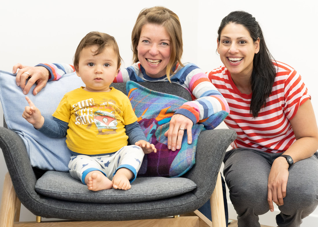 Chiropractic for babies. Sarah and Ila