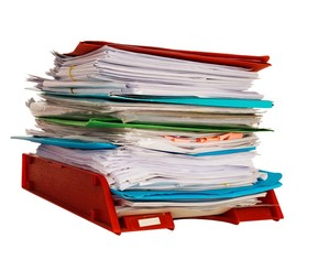 Stack of paperwork - Layers of compensation